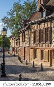 Amiens. France. 06.01.12. Row of old houses in the Saint-Leu quarter of the city of Amiens in the Picardy region of northern France.