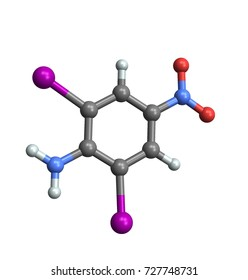 Amine molecule, 3d illustration