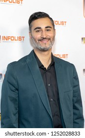 Amir Mo attends INFOList.com Red Carpet Re-Launch Party & Holiday Extravaganza! at SKYBAR at the Mondrian Hotel, Los Angeles, California on December 5th, 2018