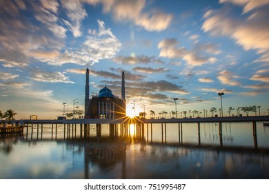 Amirul Mukminin Mosque, Floating Mosque in Makassar, Losari Beach, South Sulawesi, Indonesia