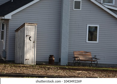 Amish outhouse with crescent moon cut into the door & Outhouse Images Stock Photos \u0026 Vectors | Shutterstock