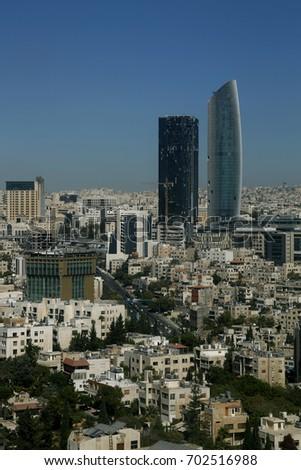 Amman City Skyline Abdali Area New Stock Photo Edit Now 702516988