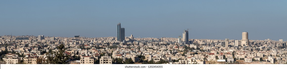Amman city skyline - Amman landmarks and famous buildings panoramic view