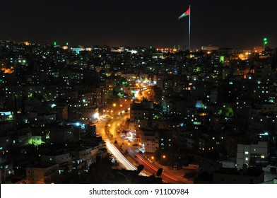 Amman heights at night