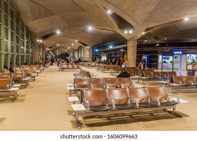AMMAN, JORDAN - APRIL 5, 2017: Queen Alia International Airport in Amman, Jordan