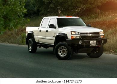 Amman, jordan – May 7 :  Chevrolet 2500 diesel on the road on 07/05/2015 in Amman