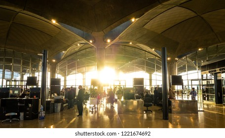Amman, Jordan-October 2018 : The interiors of Queen Alia International Airport (QAIA) in Jordan.