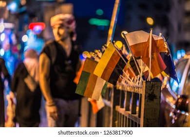 Amman - September 30, 2018: Jordanian youth in the center of Amman, Jordan