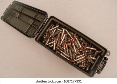 Ammo box full of bullets