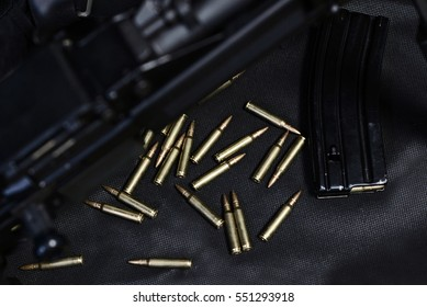 ammo to machine gun in the cage