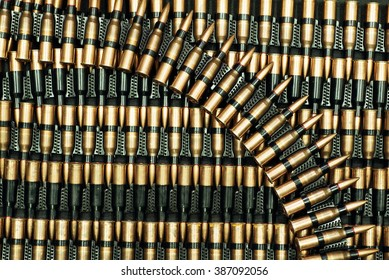 ammo to machine guns as background