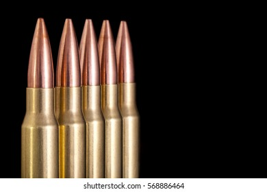 Ammo on black background with room for copy