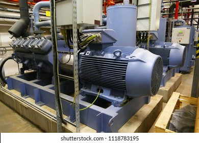 Ammonia industrial refrigeration system (natural refrigerant NH3) - Picture of compressor