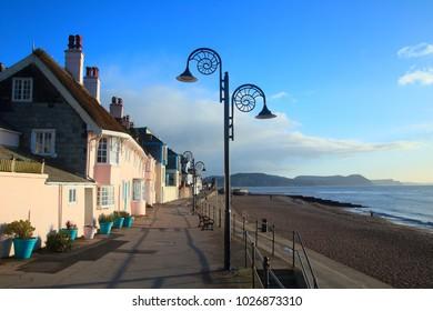 Ammonite lamp post in Lyme Regis, Dorset
