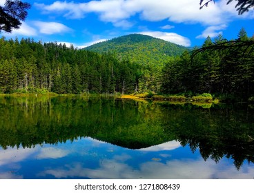 Ammonusuk Lake in Crawford Notch in White Mountains of New Hampshire