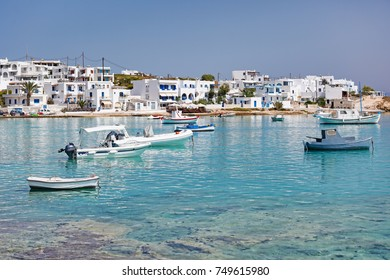 Ammos beach and the port of Koufonissi island in Cyclades, Greece
