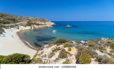 Ammoudaraki beach in Milos island, Cyclades, Greece.