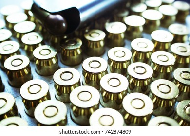 Ammunition With Clip on 45 Auto Bullets