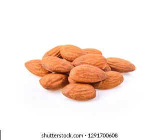 Amond nuts isolated on white background