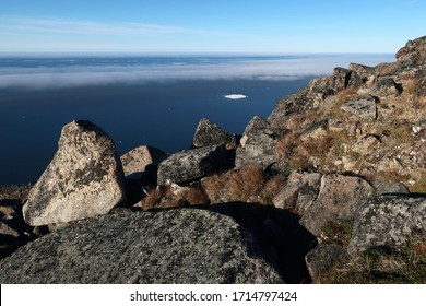 Among rocks and stones - view from above on East Siberian Sea, Chukotka, Far East Russia