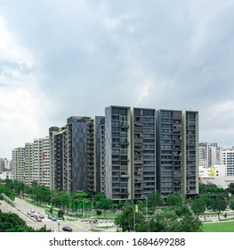Amore Condominium and HDB Residentials in Punggol, Singapore, 26 March 2020