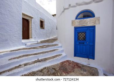 Amorgos Chora town Corner  Cyclades Greece