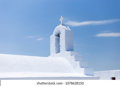 Amorgos.Greece. The roof of a small christian church in the island of Amorgos,Greece.