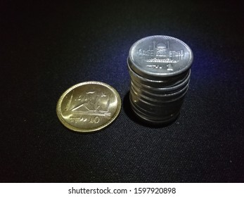 Amount of 10 rupees in ten one rupee coins and one ten rupee coin