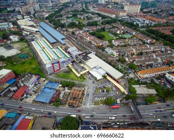 AMPANG , SELANGOR , MALAYSIA , 16 AUGUST 2017 : The LRT Ampang Line and LRT Sri Petaling Line are the third and fourth rapid transit lines in Klang Valley, Malaysia.