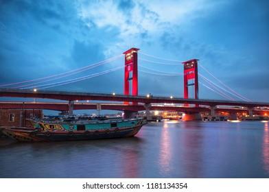 Ampera Bridge Palembang, South Sumatera, Indonesia