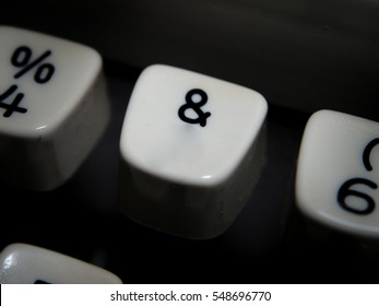 Ampersand Symbol key on vintage typewriter
