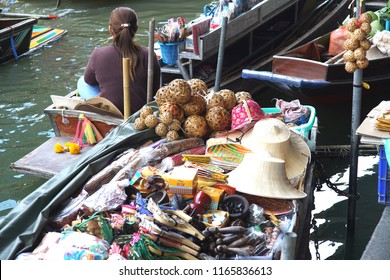 Amphawa Floating Market, Samutsongkram provicne, Thailand.Most famous of touris.14July2018