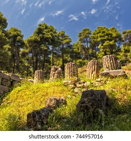 The Amphiareion of Oropos, situated in the hills 6 km southeast of the fortified port of Oropos, was a sanctuary dedicated in the late 5th century BCE to the hero Amphiaraos/Ancient columns