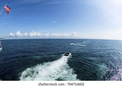 Amphibious Assault Vehicle at Sea