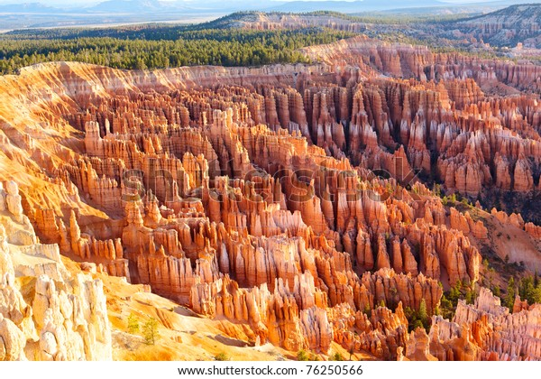 Amphitheater from Inspiration Point at sunrise, Bryce Canyon National Park, Utah, USA