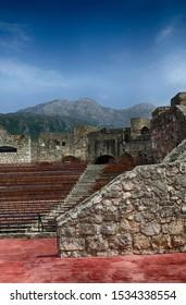 Amphitheater of Kanli Kula Fortress,Herceg Novi, Montenegro