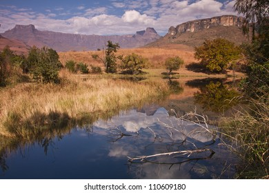 Amphitheater - Landmark in the Drakensberg mountain.