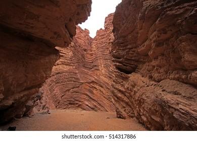 Amphitheater, Quebrada de Cafayate valley, also called quebrada de las conchas, Argentina