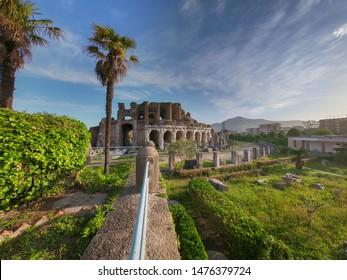 The Amphitheater of Santa Maria Capua Vetere, the second biggest roman amphitheater in Italy
