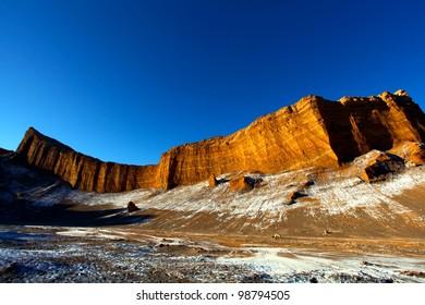 The amphitheater in the valle de la luna near San Pedro de Atacama