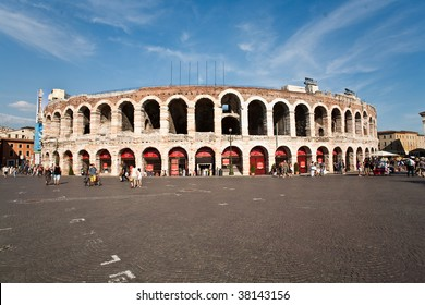 amphitheater in Verona, most famous open air theater in the world, old roman theater