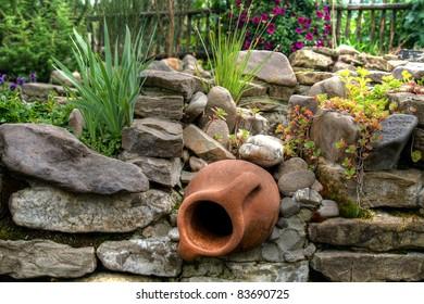 Amphora in the garden
