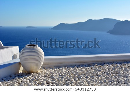 Amphora in Santorini, Greece