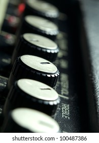 Amplifier knobs closeup,for music,sound,entertainment themes