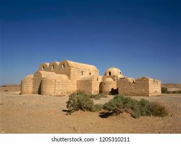 The Amra desert castle (Qasr Amra) near Amman, Jordan. World Heritage, built in 8th century by the Umayyad caliph Walid II and famous for it's unique frescos.