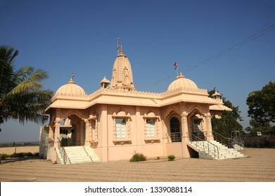 Amreli; Saurashtra; Gujarat; India- Feb.15; 2018- Bochasanvasi Akshar Purushottam Swaminarayan Sanstha(BAPS) Swaminarayan Temple is located in Navagaon