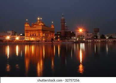 Amritsar Golden Temple night view
