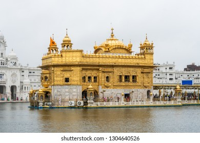 Amritsar, India - August 7, 2018:  Golden Temple in Amritsar in India. Illustrative editorial.