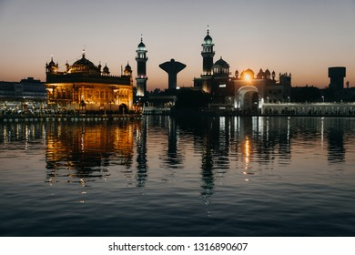 Amritsar , India - March 13, 2014: The Golden Temple, also known as Darbar Sahib, is a Gurdwara located in the city of Amritsar, Punjab, India.
