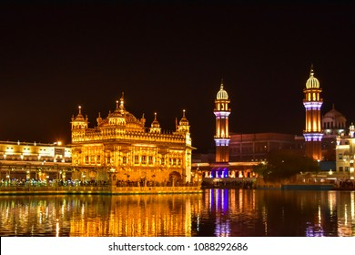 Amritsar: May 2018: Golden Temple, is a Gurdwara located in the city of Amritsar, Punjab, India. It is one of the most revered spiritual sites of Sikhism.